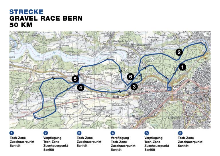 Strecke Gravel Race Bern